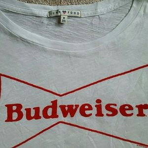 Junk Food Clothing Tops - Budweiser Tee size M